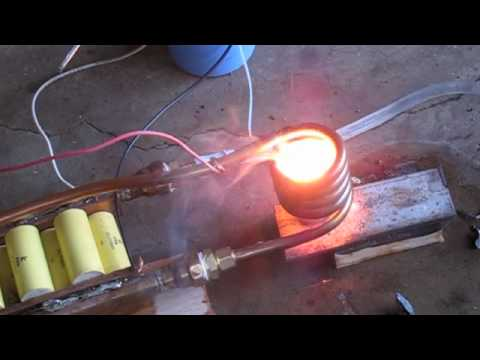 3 kilowatt Induction heater melting zinc aluminum metal