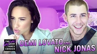 Video Demi Lovato & Nick Jonas Carpool Karaoke MP3, 3GP, MP4, WEBM, AVI, FLV Juli 2018