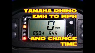 4. Yamaha Rhino change kmh to mph and change time 2004-2009