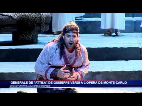 Attila en grande première à l'Opéra de Monte-Carlo - Sujet Monaco Info