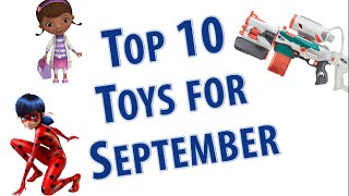 TTPM Top 10 Toys in September 2016