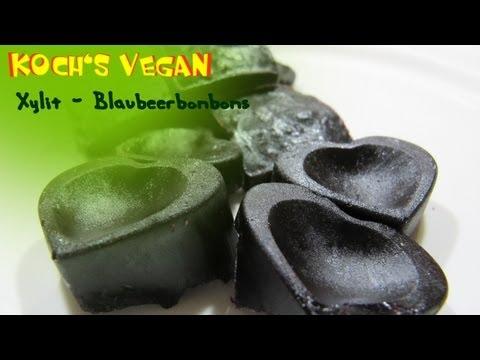 Xylit Blaubeer Bonbons - vegane Bonbons selber machen - vegane Rezepte von Koch's vegan