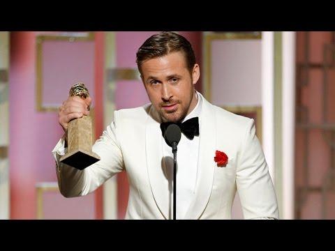 Ryan Gosling Dedicates 2017 Golden Globe Win To Eva Mendes With Emotional Speech (видео)
