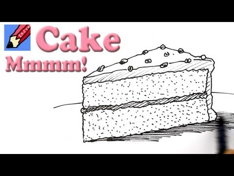 How to draw a Slice of Cake Real Easy