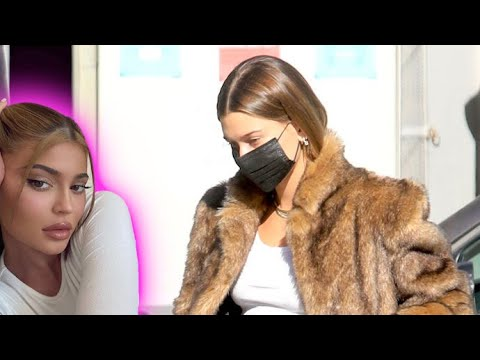 Hailey Baldwin Defiantly Rocks Fur After BFF Kylie Jenner Clashes With Protesters