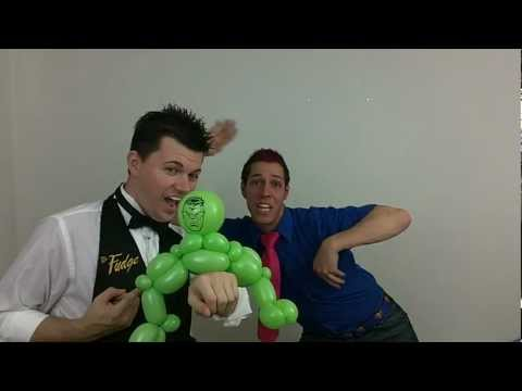 cody williams - The Incredible Hulk Balloon Animal made by Mr. Fudge and Cody Williams in Tampa, Florida. Cody and Mr. Fudge spent a little time together learning balloons f...