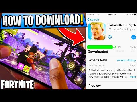 How To DOWNLOAD Fortnite on MOBILE! - Fortnite IOS + Android FREE DOWNLOAD! - Fortnite Battle Royale