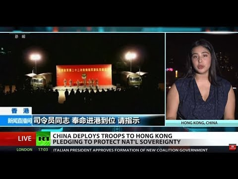 China deploys new troops to Hong Kong