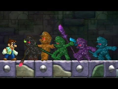New Super Mario Bros Wii - All Shadow Mario Boss Battles (видео)