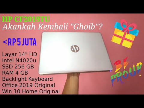 "HP Pavilion 14s CF2019TU Cepetan Beli Sebelum ""Ghoib"" PART 1 With intel N4020u SSD 256 GB"