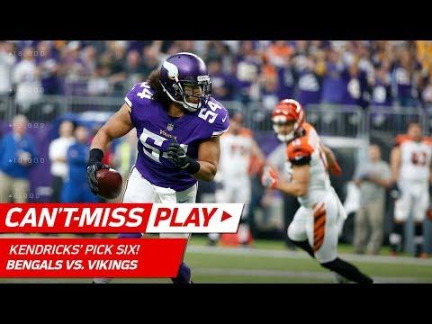 Video: Eric Kendricks Pulls In a Spectacular Pick 6 vs. Cincinnati! | Can't-Miss Play | NFL Wk 15