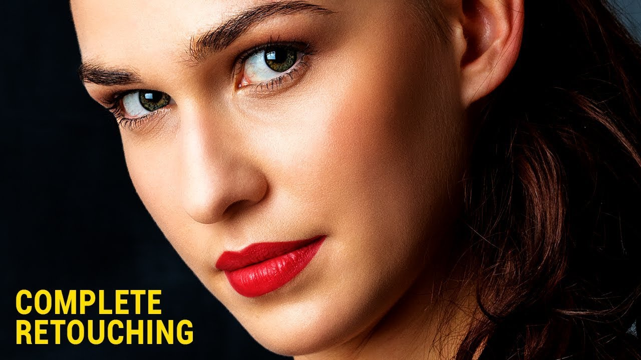 photo retouching tutorial woman portrait