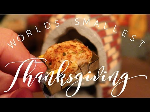 The World s Smallest Thanksgiving Dinner