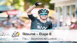 Bagneres-de-Luchon France  city images : Résumé - Étape 8 (Pau / Bagnères-de-Luchon) - Tour de France 2016