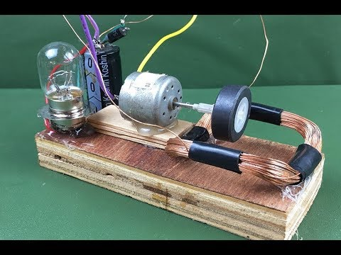 100% Free energy self running machine generator using dc motor 2018 - Science New experiment