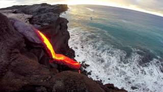 Video 8 - 09 - 16 Hawaii Lava Flow Ocean Entry - Gopro MP3, 3GP, MP4, WEBM, AVI, FLV Juli 2018
