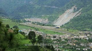 Uttarkashi India  City pictures : Chinyali Saur Airport near Uttarkashi - one of the toughest landings in India!