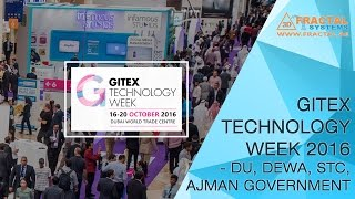 GITEX Technology Week 2016 - DU, DEWA, STC and Ajman Government exhibition stands