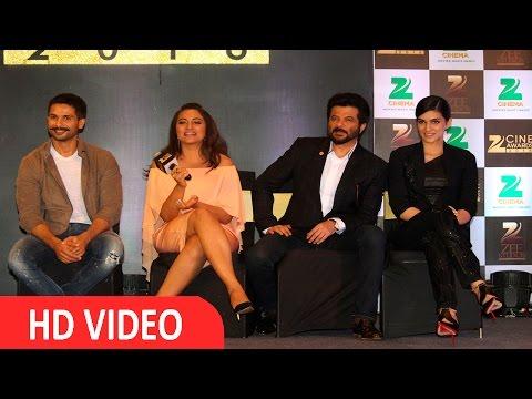 Shahid Kapoor, Sonakshi Sinha, Anil Kapoor At Announcement Of Zee Cine Award 2016