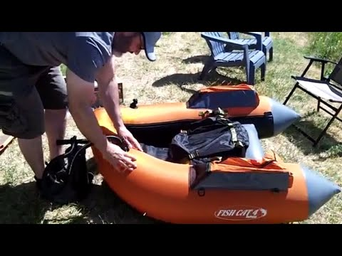 Fish Cat 4 Float Tube Assembly with Float Tube Comparison