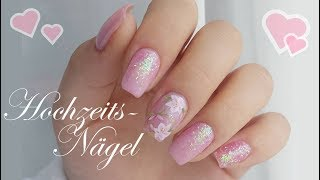 WEDDING LOOK #2 | Neumodellage mit Glitzerverlauf & Nailtattoos | Danana - YouTube