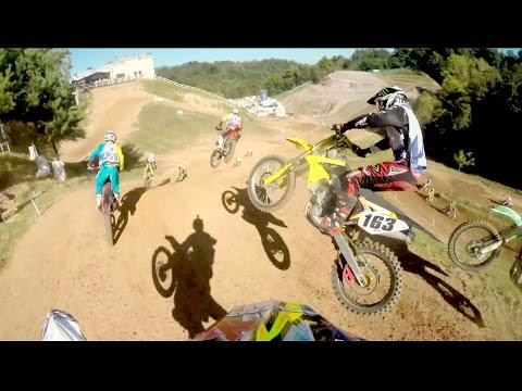 POV - CLICK for more motocross action: http://win.gs/MqRtU7 400 MX racers took to the Mottaccio del Balmone world championship track in Maggiora Park for an epic day of motocross action. Big airs,...