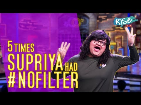 Supriya's 5 best moments | #NoFilter | Stand up Comedy | Rise By TLC