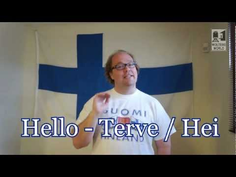 Finnish - http://www.woltersworld.com Heading to Finland for Work or Vacation? Here are 10 Finnish words that you should know before you go. Finnish for tourists. Basi...