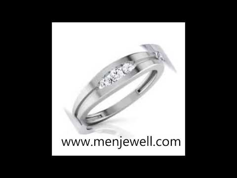 Latest  jewellery design mens Silver Wedding Ring for men by menjewell.com