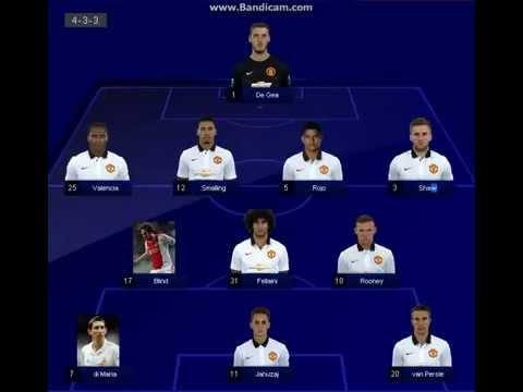 Man United Line up VS: Man City