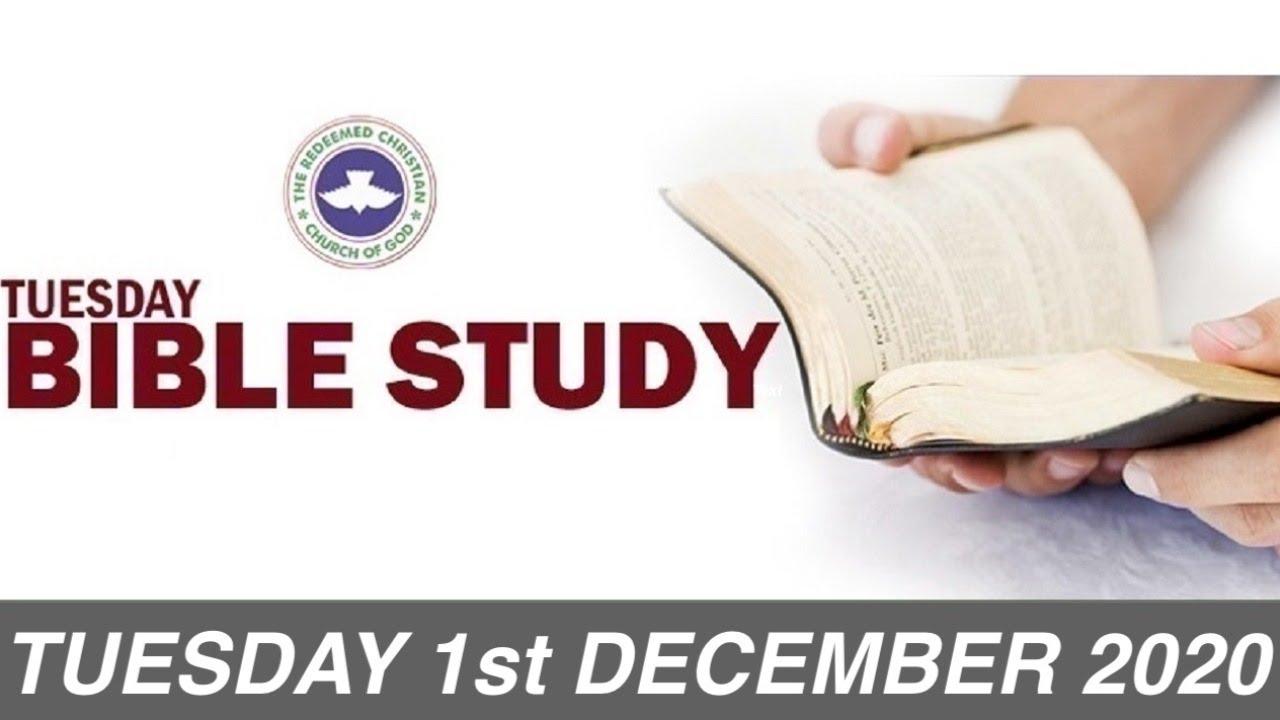 RCCG 1st December 2020 Bible Study - Livestream