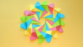 Валентинка Оригами подарок на День святого Валентина