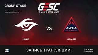 Secret vs Alpha Red, GESC: Bangkok [Lum1Sit]