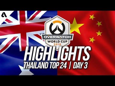 China vs Australia | Overwatch World Cup 2018 Thailand Qualifier Day 3