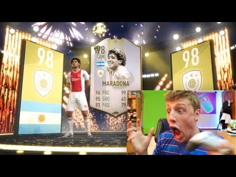 I PACKED MARADONA!!! - TEAM OF THE SEASON PACK OPENING FIFA 19