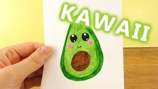 AVOCADO DIY KAWAII zeichnen | Niedliche Frucht selber machen - weiche Schale harter Kern