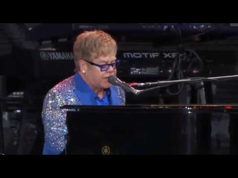 Elton John (Full Concert) Outside Lands San Francisco 2015 - Excellent Quality!:  Elton John and band play the 2015 Outside Lands Festival in San Francisco; August 9, 2015 at Golden Gate Park. Be sure to subscribe to this page for more Elton updates! See below for indexed time tabs.-Beautiful Rocket Man 4 min. solo piano Prelude; 49:30Outside Lands Setlist:Bitch Is Back 0:00Bennie and the Jets 4:14Candle in the Wind 10:20All the Young Girls Love Alice 14:43Levon 19:51Tiny Dancer 29:56Daniel 36:46Philadelphia Freedom 40:42Goodbye Yellow Brick Road 45:52Rocket Man 49:30Hey Ahab 1:00:35I Guess That's Why They Call It the Blues 1:05:21Your Song 1:10:39Funny moment getting mic stand adjusted 1:15:20Burn Down the Mission (slams piano lid end of song) 1:15:35Sad Songs 1:21:30Sorry Seems to Be the Hardest Word 1:26:30Thank fans & Band Intros 1:30:35Don't Let the Sun Go Down on Me 1:32:37I'm Still Standing 1:38:30Your Sister Can't Twist (But She Can Rock 'n Roll) 1:41:44Saturday Night's Alright for Fighting 1:44:39Crocodile Rock 1:54:26