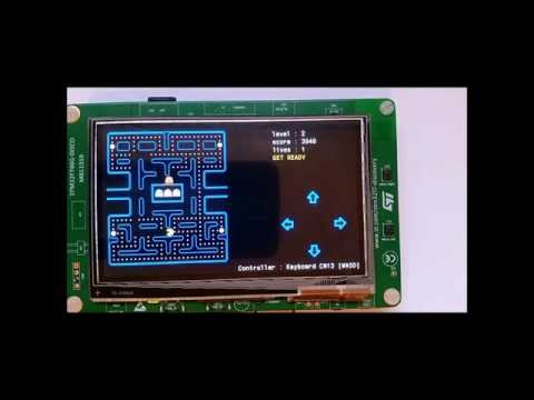 Pacman Game on a STM32F746 Discovery Board