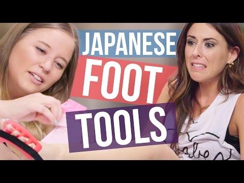4 Weird Japanese Foot Tools (Beauty Break) (видео)