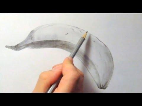 Banane, zeichnen im Zeitraffer (Banana, drawing in fast motion)[HD]
