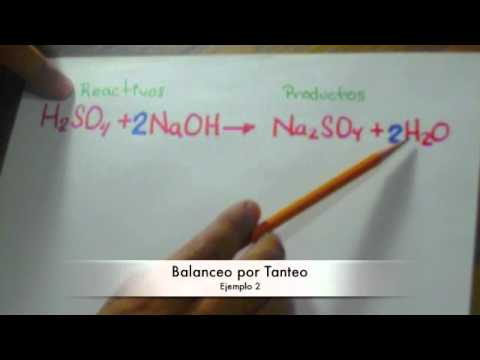 Balanceo por tanteo (Ejemplo 2)