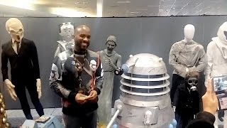 Phoenix James autographs Dalek from original Doctor Who TV Show