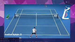 Roger Federer vs Kei Nishikori   Australian Open 2017 4th Round highlights HD