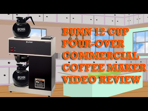 BUNN 12 Cup Pourover Commercial Coffee Maker Review – BUNN VPR Coffee Maker Reviewed