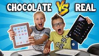 CHOCOLATE vs REAL!!!!!