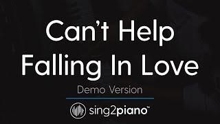 Video Can't Help Falling In Love (Piano karaoke demo) Haley Reinhart MP3, 3GP, MP4, WEBM, AVI, FLV Januari 2018
