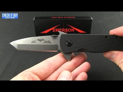 "Emerson CQC-7 Flipper Tanto Knife (3.3"" Stonewash) SF"