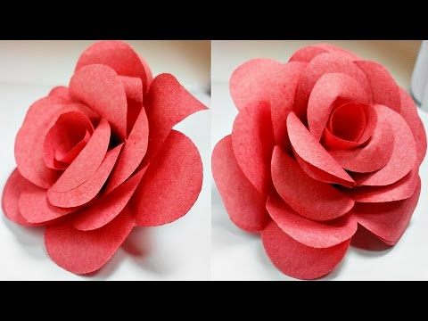 Paper Flowers Rose Diy Tutorial Easy For Childrenorigami Flower