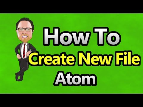 Atom - Create New File in Project