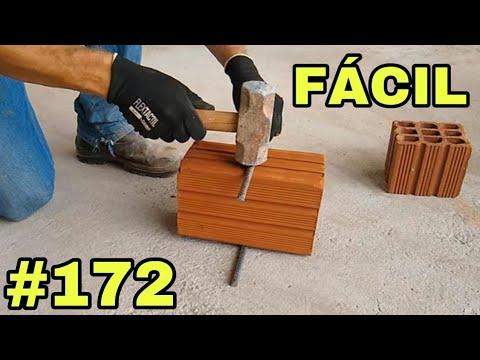 #172-Como quebrar tijolo ao meio